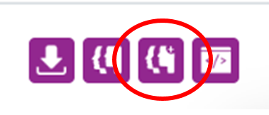 Screenshot highlighting the View LG Inform Plus report icon