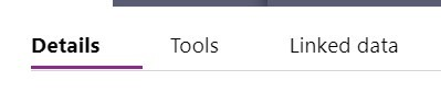 Details Tools Linked Data toolbar