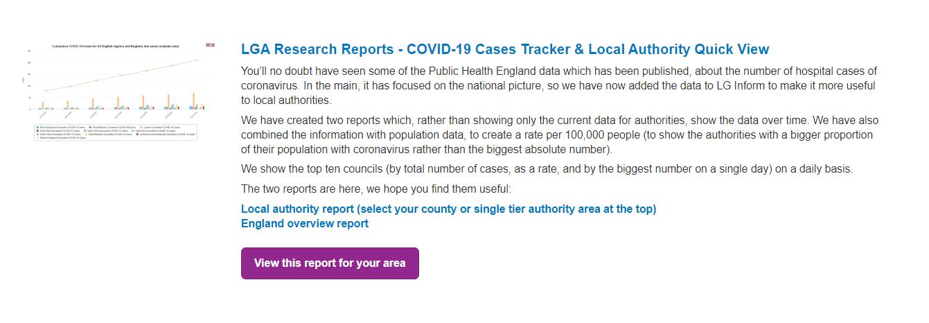 LGA Research Report topic example screenshot