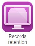 Records retention icon